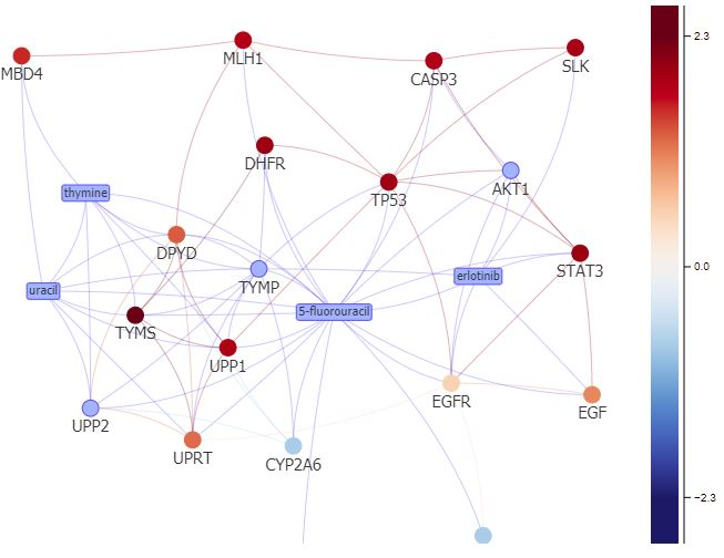 Network visualization is running under Grap Button->Annotation.